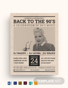 Vintage Newspaper Flyer Template