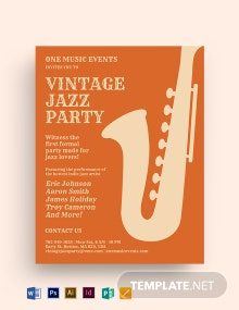 Vintage Party Flyer Template