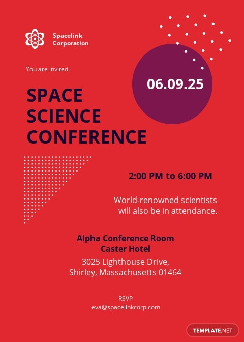 Scientific Conference Invitation Template