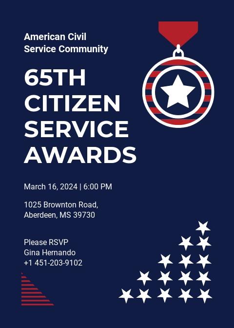 Service Award Invitation Template