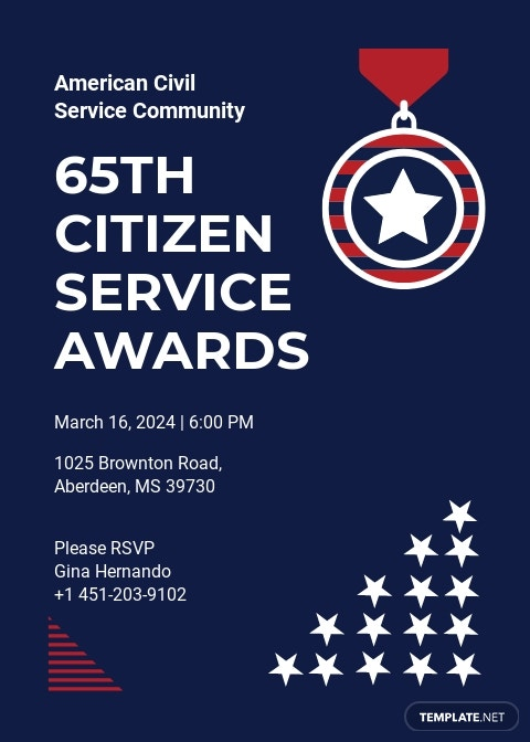 Service Award Invitation Template
