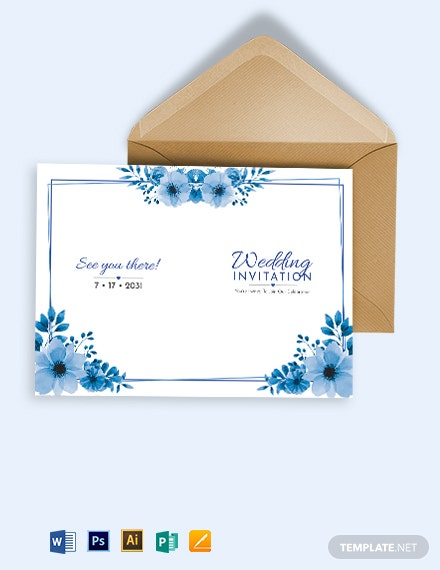 Sided Invitation Card Template