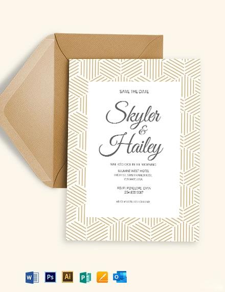 Skyler Wedding Invitation Template