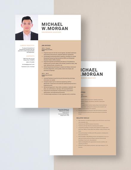 Engineering Assistant Resume Download