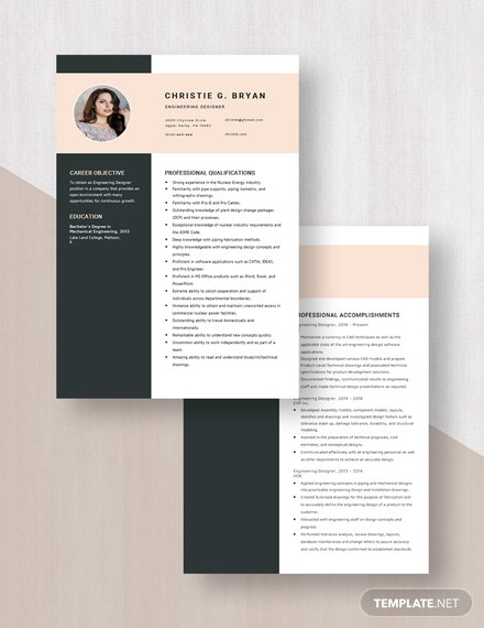Engineering Designer Resume Download