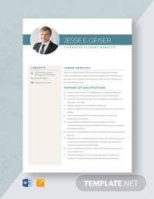 Enterprise Account Manager Resume Template