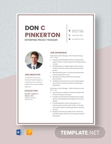 Enterprise Project Manager Resume Template