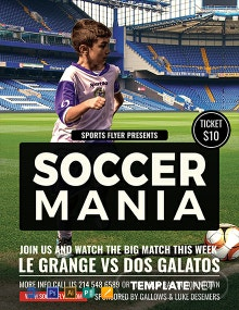 Free Soccer Mania Sports Flyer Template