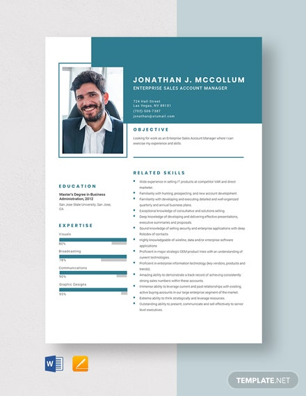 Enterprise Sales Account Manager Resume Template