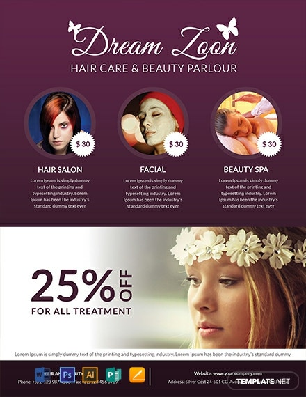 Hair Salon and Beauty Care Flyer Template