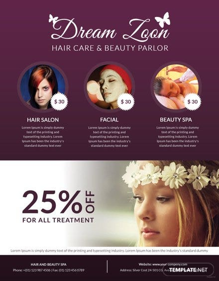Hair salon and beauty care flyer template free templates hair salon and beauty care flyer template free maxwellsz