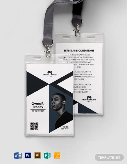 Motor Club ID Card Template