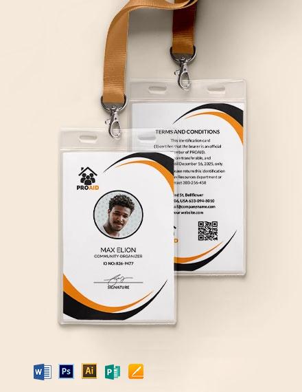 NGO ID Card Template