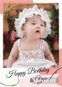 Photo Birthday Card Template