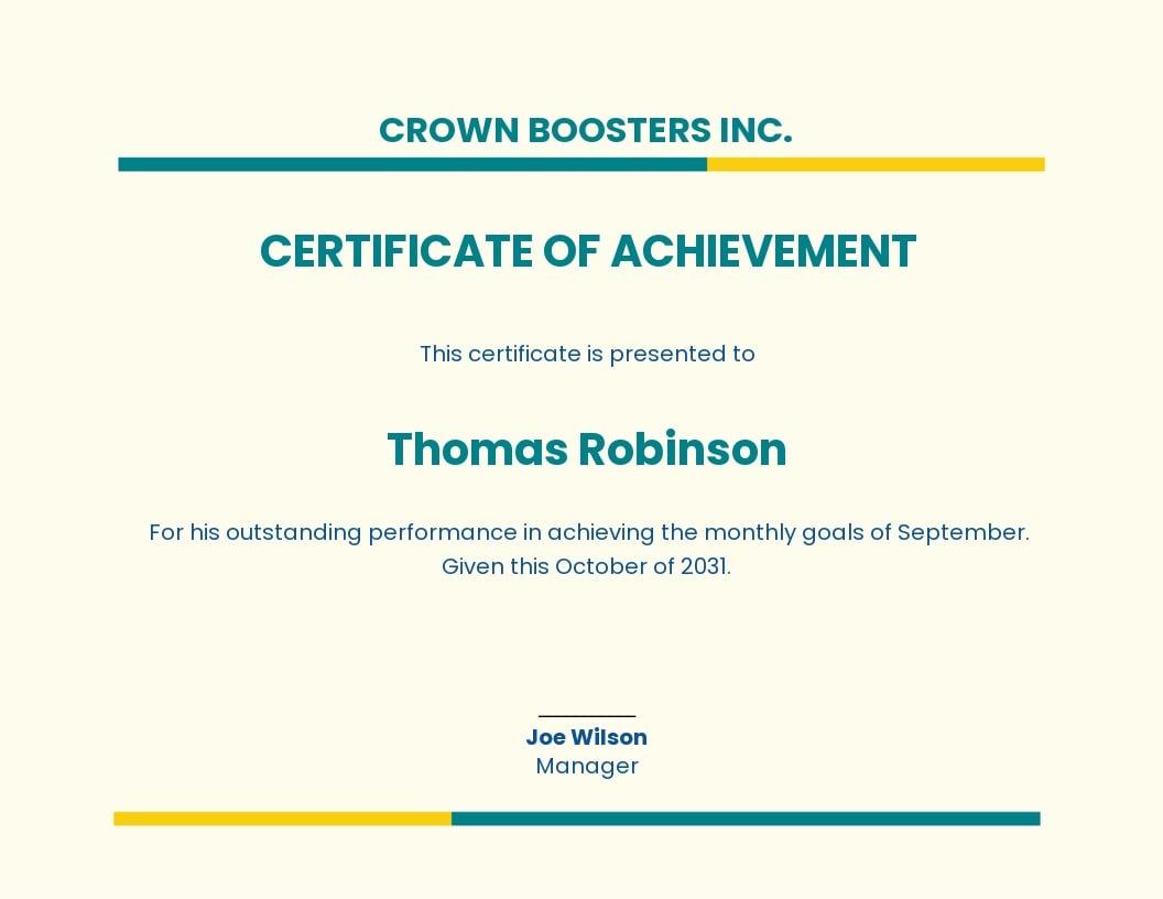 Certificate of Achievement Template.jpe