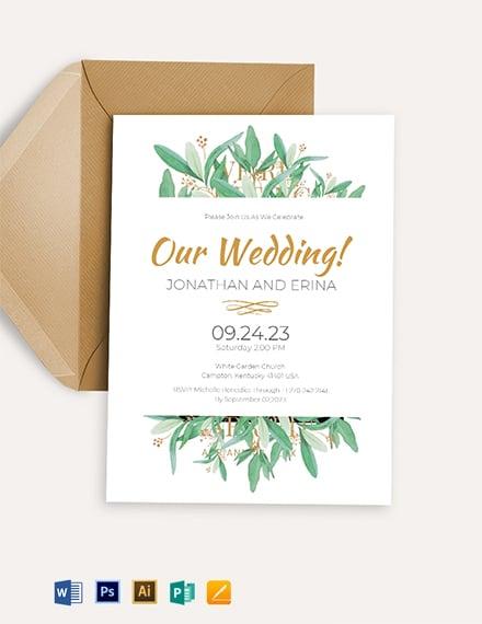 Second Marriage Invitation Template