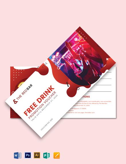 Bar Promotion Voucher Template