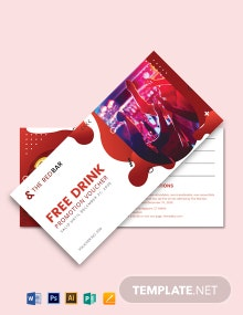 Bar Promotion Voucher Template