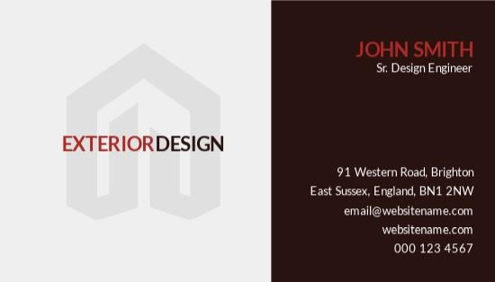 Exterior Design Business Card Template