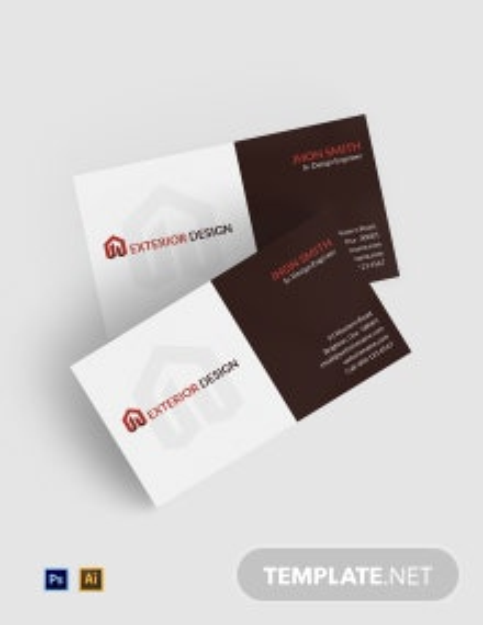 Free Exterior Design Business Card Template