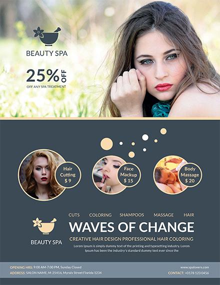 Free Flat Style Beauty Salon Template
