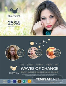 FREE Flat Style Beauty Salon Template