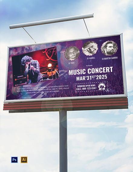 Free Music Band Billboard Template