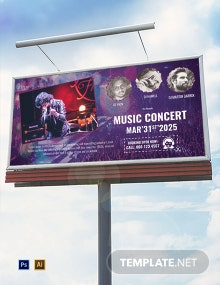 Free Music Band Billboard Template