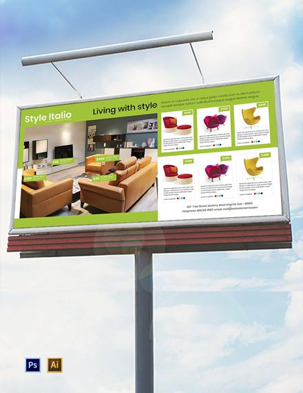 Free Furniture Store Billboard Template