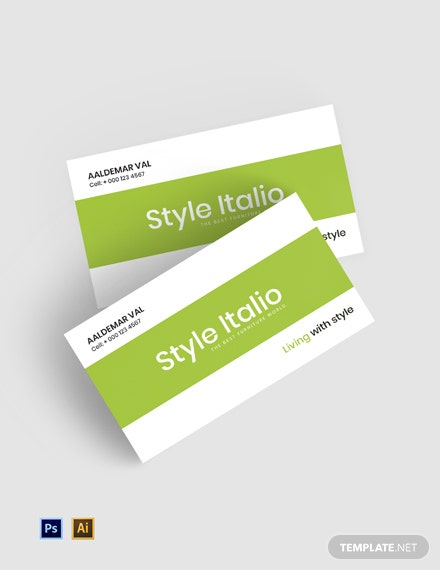 Free Furniture Store Business Card Template