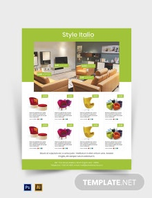 Free Furniture Store Flyer Template