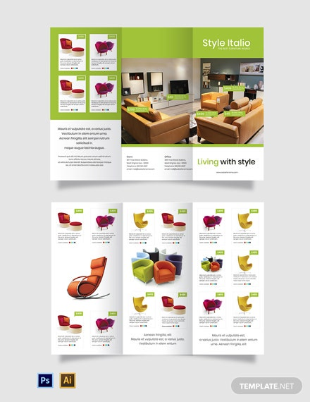 Free Furniture Store TriFold Brochure