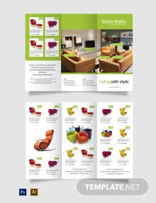 Free Furniture Store Tri-Fold Brochure Template