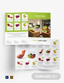 Free Furniture Store Bi-Fold Brochure Template