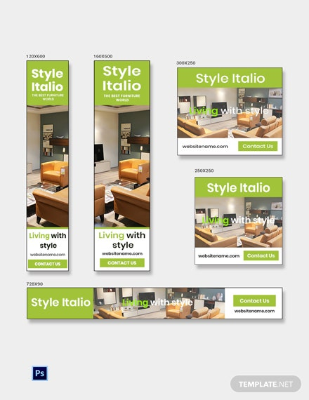 Free Furniture Store Banner Ads Template
