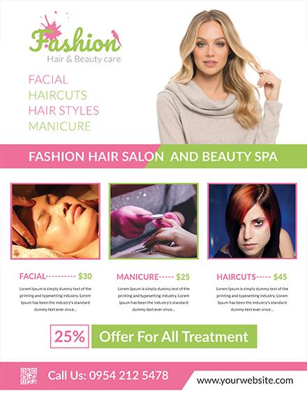 Free Fashion Salon Flyer Template