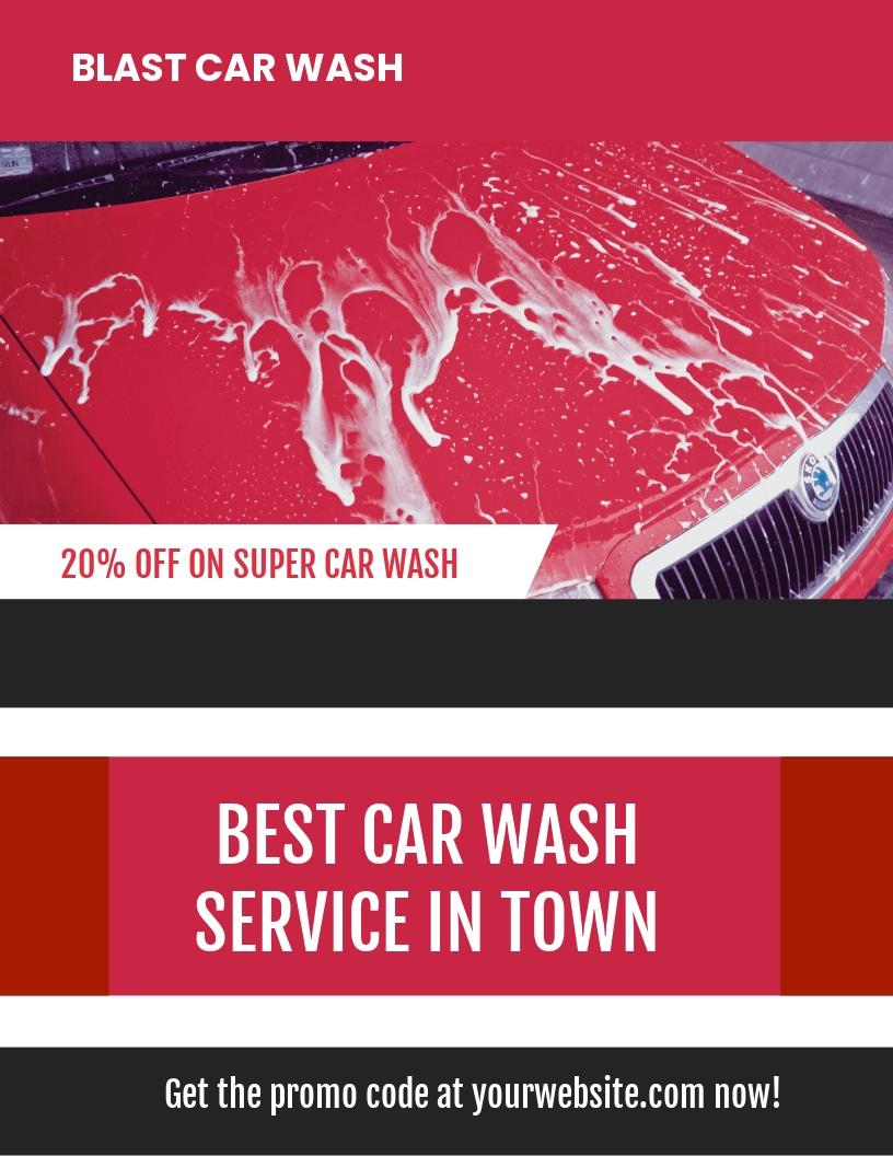 Car Wash Advertising Flyer Template.jpe