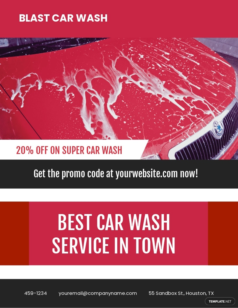Car Wash Advertising Flyer Template