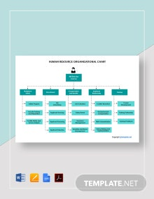 Free Human Resource Organizational Chart Template