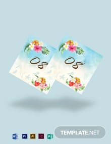 Beach Wedding Table Number Card Template