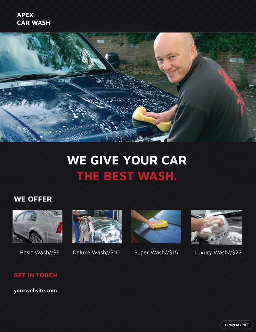 Professional Car Wash Flyer Template.jpe