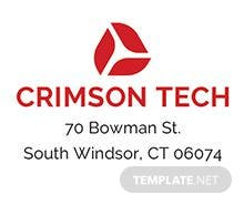 Free Business Address Label Template