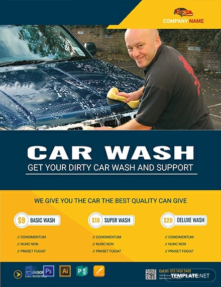 Free Modern Car Wash Flyer Template