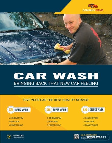 Modern Car Wash Flyer Template