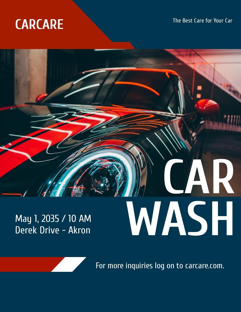 Modern Car Wash Flyer Template.jpe