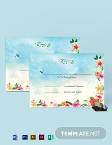 Beach Wedding Rsvp Card Template