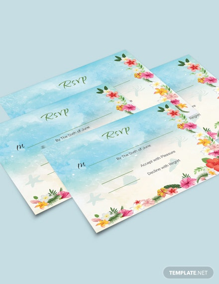 Download Beach Wedding Rsvp Card Template