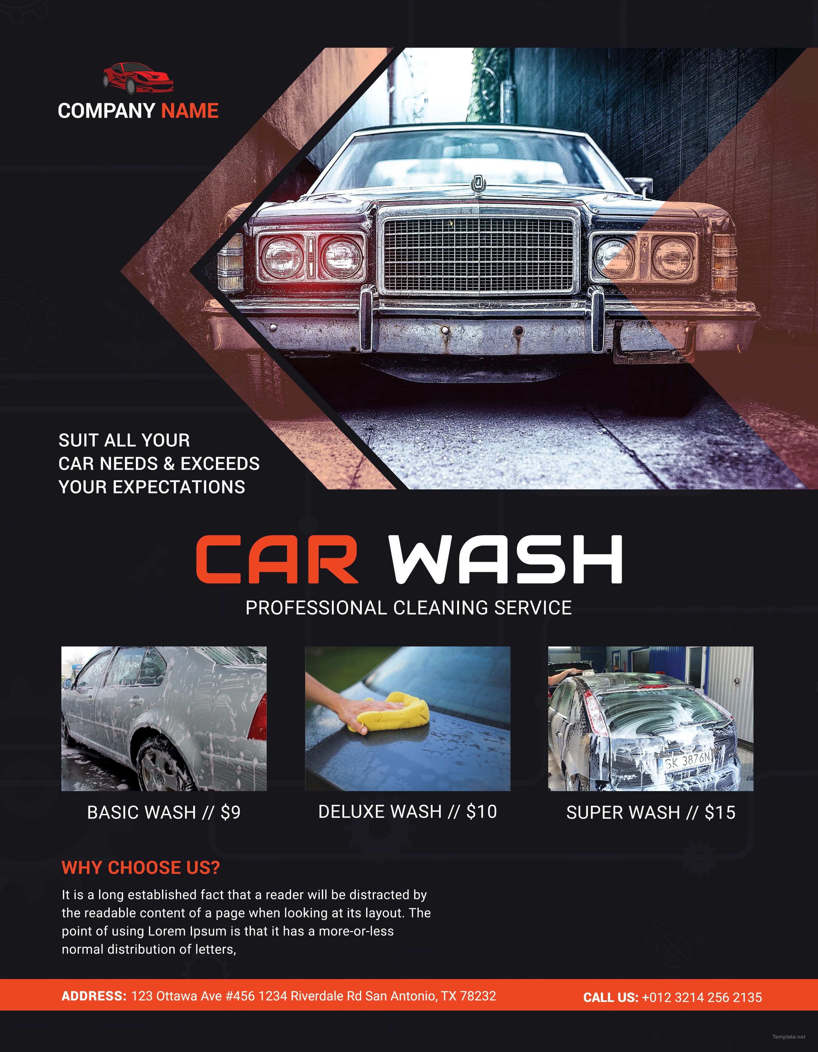 Car Wash Business Flyer