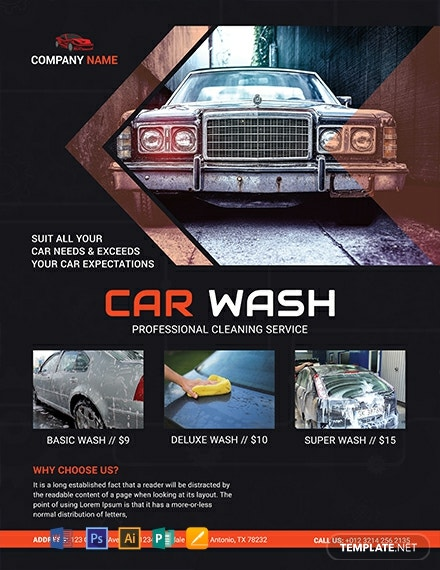 Free Car Wash Business Flyer Template Download 1569 Flyers In Psd