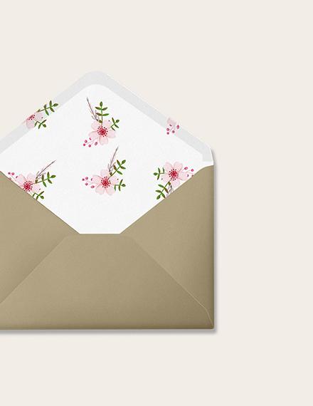Sample Vintage Floral Wedding Envelope